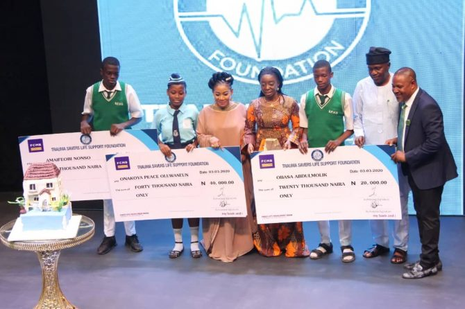TSLS Foundation Premieres, 'The Scourge', Launches Be The Change Club , Present award to students who won the essay competition